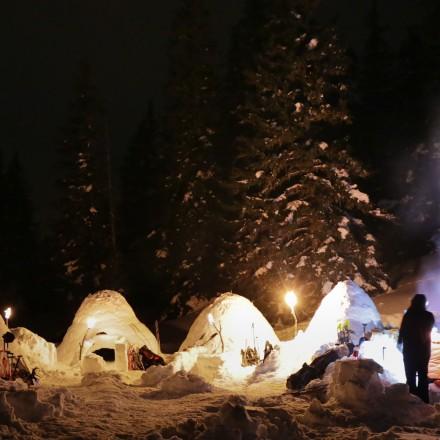 teambuilding in de bergen Oostenrijk iglo experience