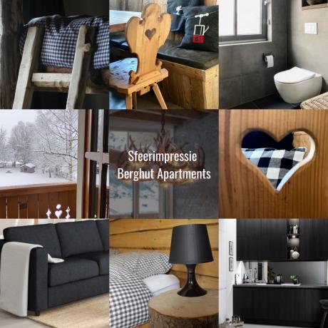 Berghut apartments Oostenrijk alpenstijl Hans en Nel interieur impressie
