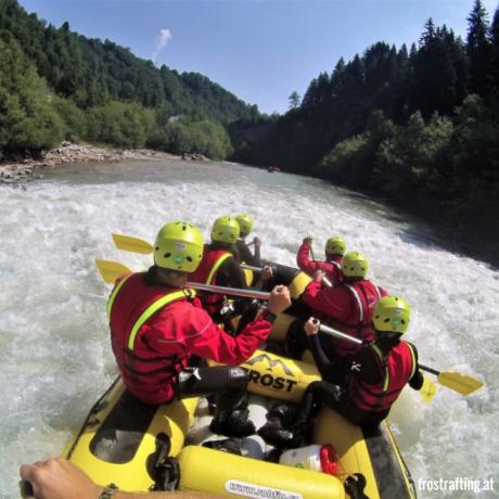 Rafting Rauris Salzburgerland de Berghut appartementen vakantiewoningen kindvriendelijk Oostenrijk zomervakantie