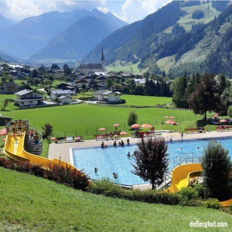Zwembad Rauris Salzburgerland de Berghut appartementen vakantiewoningen kindvriendelijk Oostenrijk zomervakantie